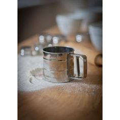 Stainless Steel Flour Sifter - from eggcup & blanket UK Industrial Chic Kitchen, Kitchen Storage Solutions, Baking Accessories, Cast Iron Cookware, Cath Kidston, Simple Pleasures, Cool Tools, Kitchen Dining, Rings For Men