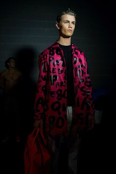 80s New York neons backstage at Dsquared2 SS15, Milan menswear. More images here: http://www.dazeddigital.com/fashion/article/20468/1/dsquared2-ss15