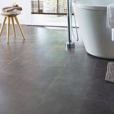 Dalles PVC Hanami anthracite x 60 cm Dalle Sol Pvc, Tile Floor, Sweet Home, Colours, Flooring, Deco, Inspiration, Cooking, Paving Slabs