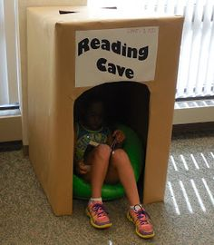 READING CAVE - What a fun, easy to make, place for kids to read this summer! #reading -