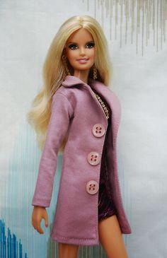 Поделки для кукол: Выкройка весеннего пальто