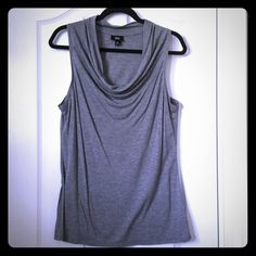 "Basic Grey Drape Neck Top This basic grey top is soft to touch and comfortable to wear. It's loose fitting, easy to pair with pants, skirts or shorts and you can wear it year round! Measurements: 18"" across and 29"" top to bottom. In excellent condition! Mossimo Supply Co. Tops Tank Tops"