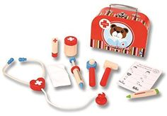 Njoykids Doctor Kit Role-Play Wooden Toy Set -- To view further for this item, visit the image link.