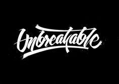 Unbreakable #lettering. Made with #brushpen by Björn Berglund Creative Studio, www.bjornberglund.com