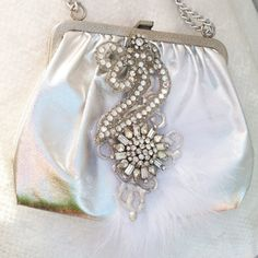 Vintage Purse embellished with Rhinestones and by TheMakersChoice, $375.00 BIG SUMMER SALE ON THE MAKERS CHOICE !!!!!!!!!!!