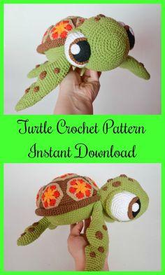 sea turtle by Krawka crochet pattern, instant download #ad #Etsy #turtle #crochet #instantdownload
