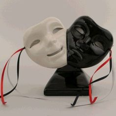 Comedy/Tragedy Pedestal Mask for centerpieces