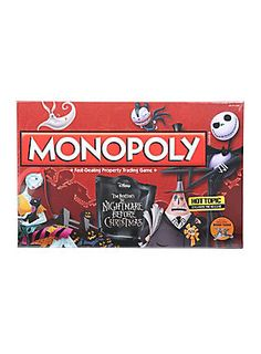 Monopoly The Nightmare Before Christmas Board Game Hot Topic Exclusive Pre-Release Christmas Board Games, Christmas Themes, Christmas Stuff, Xmas, Halloween Town, Spirit Halloween, Halloween 2016, Halloween Treats, Nightmare Before Christmas Monopoly