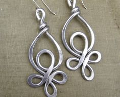 Celtic Knot Big Aluminum Earrings Very Big Earrings Light