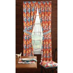Teal Curtains, Window Curtains, Pioneer Woman Kitchen, Beautiful Curtains, Small Windows, Window Panels, Shades Of Red, Country Chic, Shabby Chic Decor