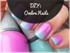 DIY :OmbreNails .If I get up my nerve to try something different or bright. I keep my nails bare or very neutral or natural looking. I seem to like light white, pale pink, light beige etc..