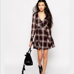Free People Teen Spirit Mini Dress Size 12, soft material, buttons on the cuffs and zip closure on the side. (I honestly think this runs small) Free People Dresses