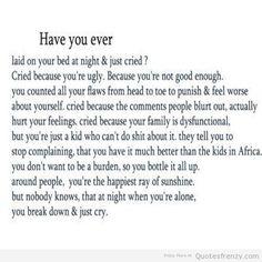I remember feeling like this..