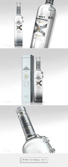#Vodka Grey Cardinal #packaging designed by STUDIOIN - http://www.packagingoftheworld.com/2015/03/vodka-grey-cardinal.html