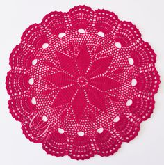 Red Crochet Doily, gift for women, living room table decoration Table Decor Living Room, Eco Friendly House, Crochet Doilies, Cosy, Gifts For Women, Craft Supplies, Gift Wrapping, Etsy Shop, Table Decorations