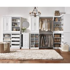 Home Decorators Collection Manhattan Open Modular Wood Storage Cabinet in White-0380410410 - The Home Depot