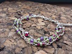 Garnet Amethyst Peridot Bracelet / Fairytale Bracelet by MiVinci
