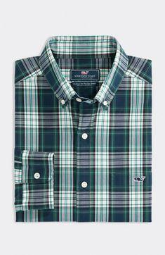 Sports Shirts, Flannel Shirt, Get Dressed, Poplin, Men Casual, Plaid, Vineyard Vines, Classic, Fitness
