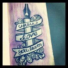 You love you learn…  #doodles #lettering, #sketchbook #leuchtturm1917
