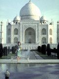 Jackie Kennedy at Taj Mahal, by Art Rickerby