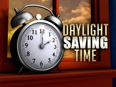 Daylight savings time ends! Don't forget to set your clocks back one hour!