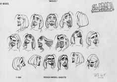 Living Lines Library: The Road to El Dorado (2000) - Model Sheets