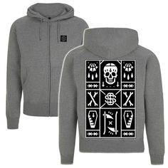 'Sacred Death' Unisex Zip-Up Hoodie | Sacred Stitches
