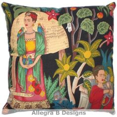 Frida+Kahlo+Decorative+Throw+Pillow+Mexican+Art+Home+by+AllegraB,+$14.00