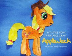 pony party craft ideas   My Little Pony Craft: AppleJack }