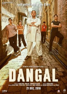 Directed by Nitesh Tiwari. With Aamir Khan, Sakshi Tanwar, Fatima Sana Shaikh, Sanya Malhotra. Former wrestler Mahavir Singh Phogat and his two wrestler daughters struggle towards glory at the Commonwealth Games in the face of societal oppression. Dangal Movie Download, Download Free Movies Online, Latest Movies, New Movies, Good Movies, Movies Free, Hindi Movies, Tamil Movies, Quiz Harry Potter