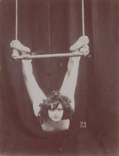 Her expression is amazing! She looks so wild. vintage everyday: Vintage Photos of Circus Performers from 1890s-1910s