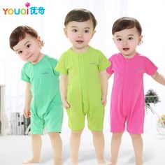Baby Clothes Cute Baby Girls Jumpsuit Summer Cotton Short Sleeve Costume 0 3 6 18 Months Newborn Brand Spring Pajamas Homewear