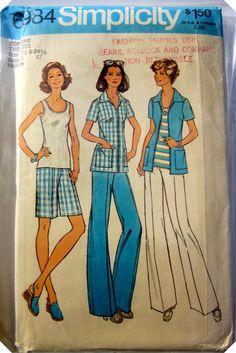 Simplicity 6984 Womens Shirt Pants Jacket 1970s by Denisecraft, $5.99