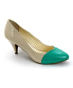 894342066a3 Look at this B.A.I.T. Teal Heart Pump on  zulily today! Fancy Shoes