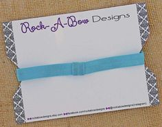Interchangeable Turquoise Headband Baby by RockABowDesigns on Etsy