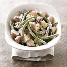 Make this Green Beans and Petite Reds salad for the perfect complement to any meal: http://www.bhg.com/recipes/slow-cooker/spring-slow-cooker-recipes/?socsrc=bhgpin021114greenbeansandpetitereds&page=9