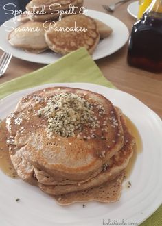 Sprouted Spelt and Sesame Pancakes