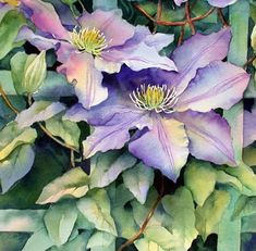 Ann's Watercolour Studio: Negative painting and a 3D effect demonstration