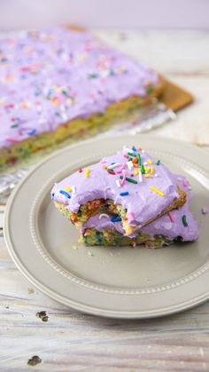 Whip up some colorful magic with these delightful Unicorn Bars! They're topped with a pillow-y purple frosting and rainbow sprinkles for good…