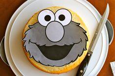 Elmo Cake Tutorial for Dummies (without an Elmo Cake Pan) Fondant Cake Tutorial, Fondant Flower Cake, Cupcake Cakes, Car Cakes, Fondant Bow, Fondant Cakes, Elmo Birthday Cake, Elmo Cake, 2nd Birthday