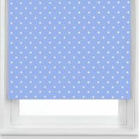 luxury baby blue polka dots nursery blackout roller blinds child safe - Blinds For Baby Room
