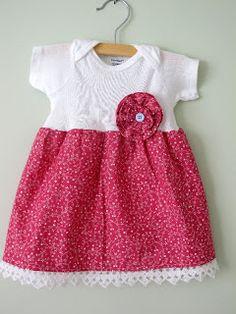 transform fashion for kids: sewing tutorial, onesie dress tutorial - crafts ideas - crafts for kids