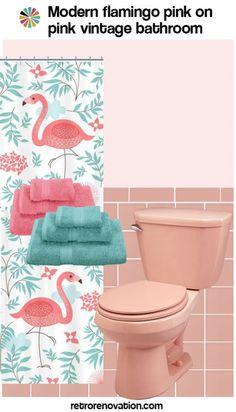 87 best flamingo bathroom images color colors ideas rh pinterest com