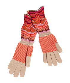 Mandarin/Camel Multicolor Gloves