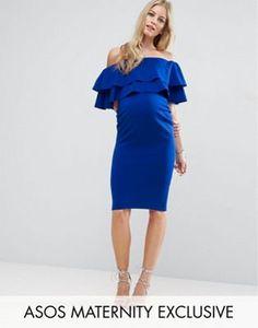 ASOS Maternity | ASOS Maternity Large Ruffle Bardot Dress