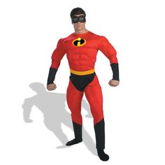 Disney Mr. Incredible Muscle Adult Costume