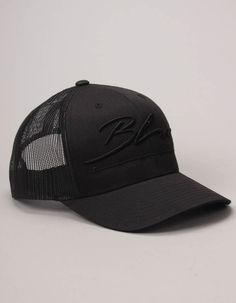 Blue Cartel Black/Black Logo Hat | Accent Clothing