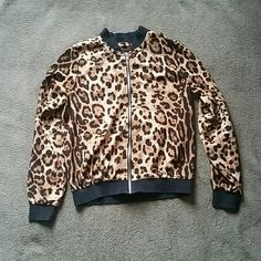 Cheetah jacket Says size large but fits like a small light jacket great for spring Jackets & Coats