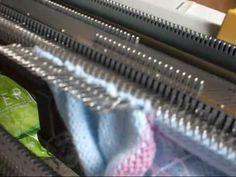 tejer a maquina leccion 4 - interesante la manera en que hace los calados y va montando puntos ------------------