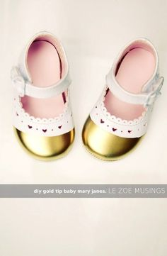 Gold-Tipped Mary Janes | 29 Easy And Adorable Things To Make For Babies